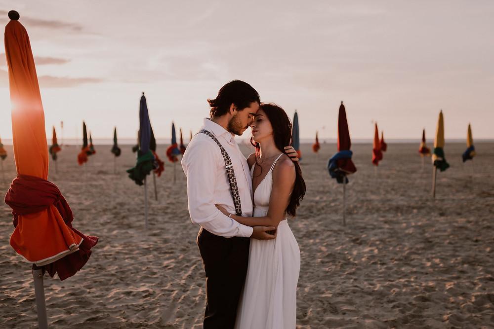Couple - Amour - Plage - Soleil - Photographe mariage - Photographe Normandie - Photographe Nord - Photographe Soissons - Photographe Provence