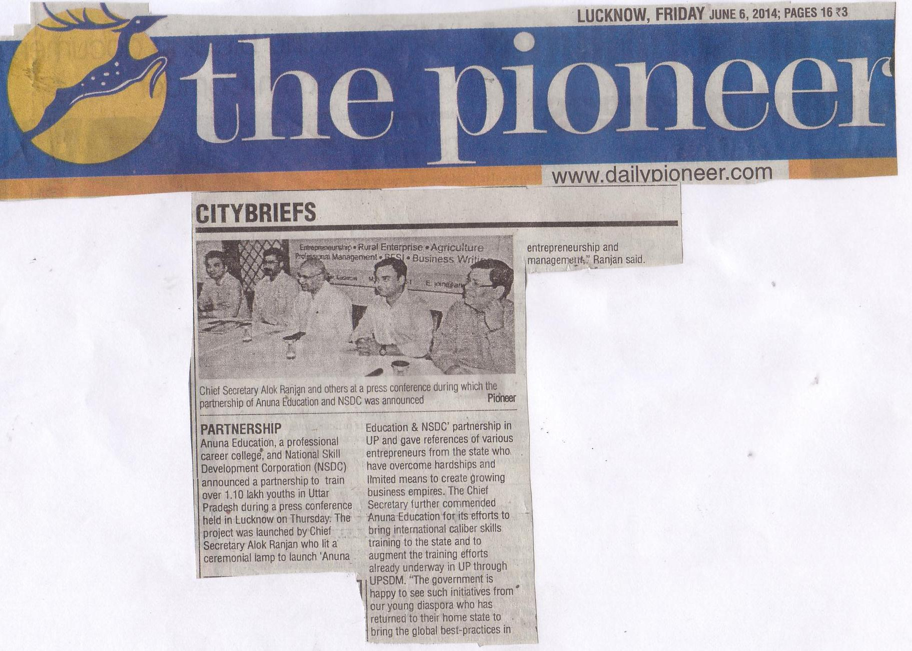 The Pioneer June 9th 2014