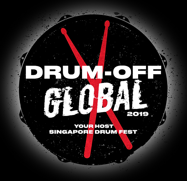 Drum off 2019 logo (black bg and speckle