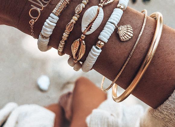 Bracelet multi cauris