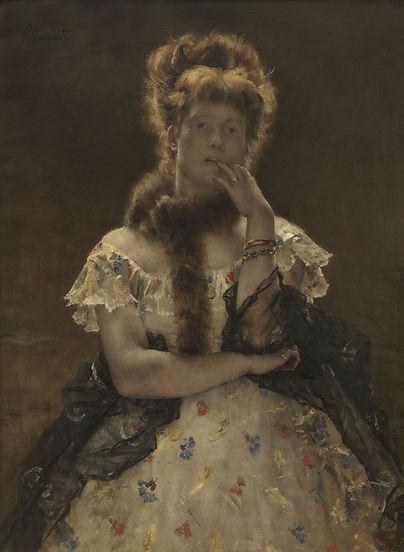 De_Parijse_sfinks,_Alfred_Stevens,_(1875