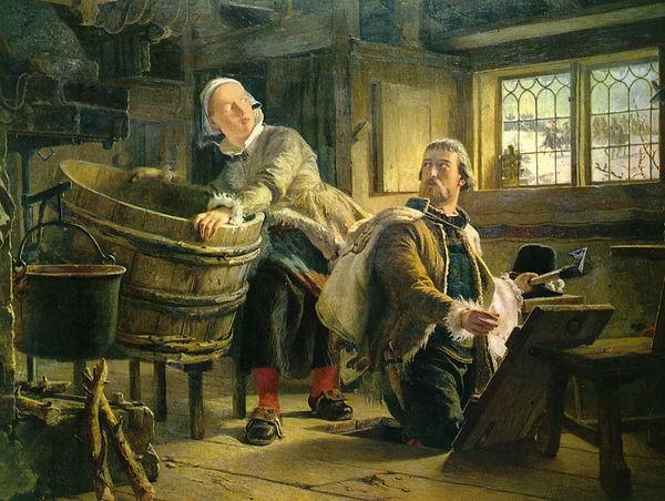 Gustaf_Vasa_och_Tomt-Margit_Målning_av_J