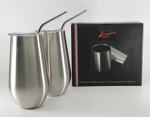 16oz Stainless Steel Insulated 2 glass set