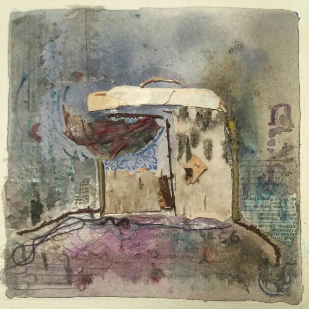 Uscio watercolor on Kadhi paper cm 2