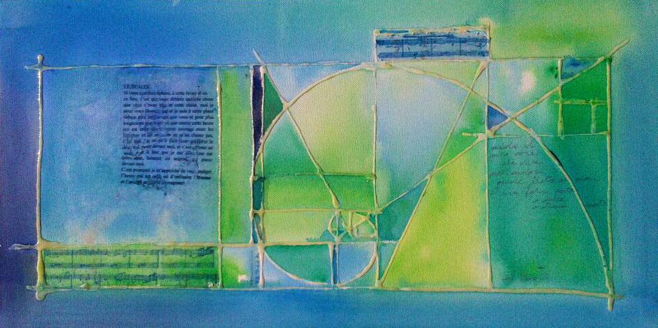 Blue in green in sezione aurea