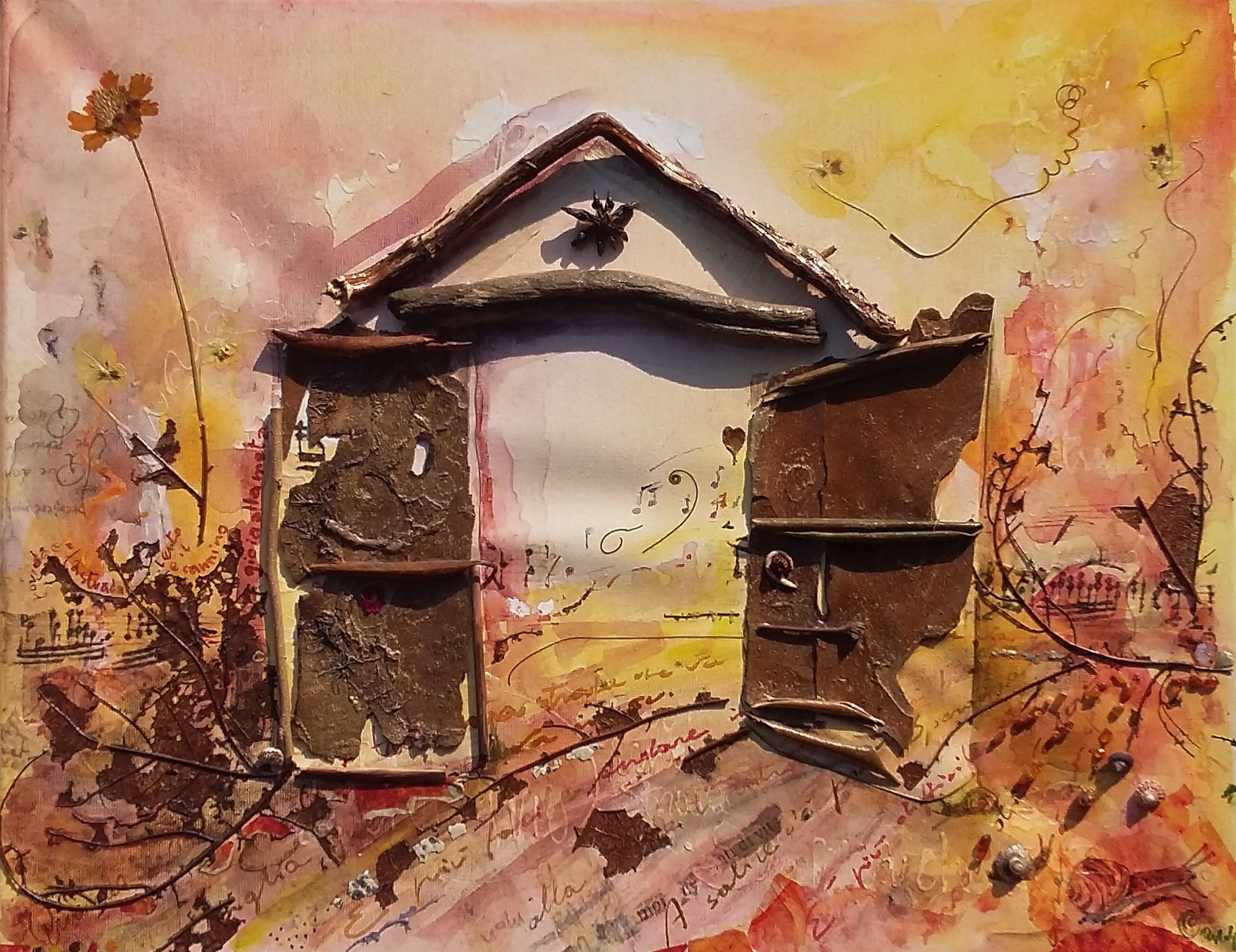 Uscio 18 acrylic on canvas cm 40x60