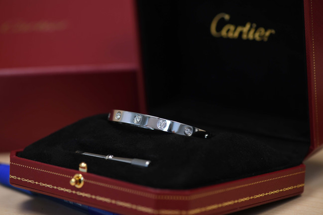 CARTIER LOVE BRACELET + DIAMOND BRACELET
