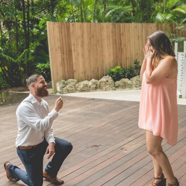 SHE SAID YES + EMERALD CUT DIAMOND RING