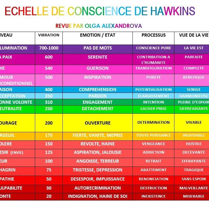 Les différents niveaux de conscience de D. Hawkins