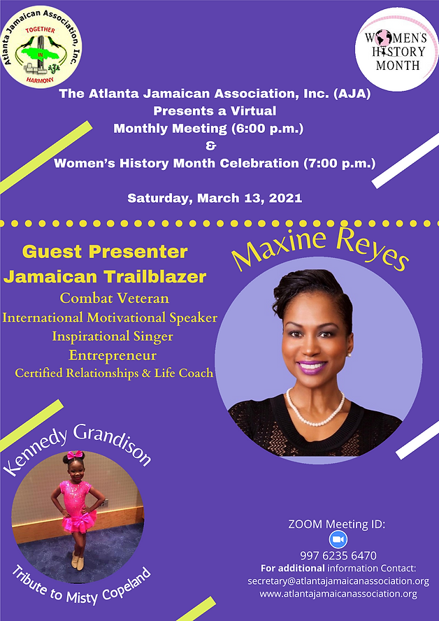 AJA Women's History Month Flyer March 20