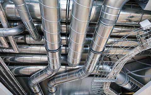 tubos e curvas de aço galvanizado para fazer a exaustão industrial