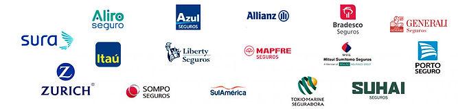 logotipos das principais seguradoras do