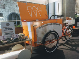 Branded gelato cart hire for a corporate event in Melbourne