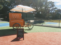 Melbourne School festival ice cream cart hire