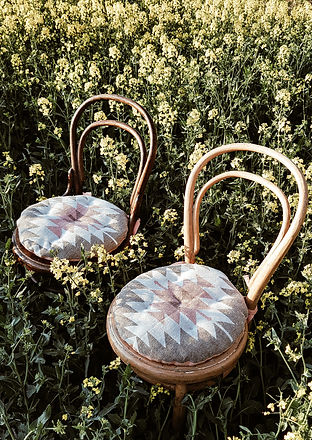 Boho-Trau-Stühle