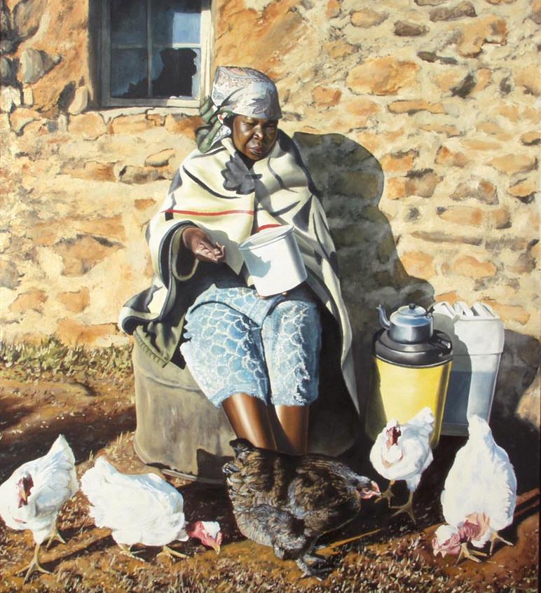 Africa - Chicken Woman