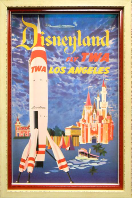 Original Disneyland TWA Poster