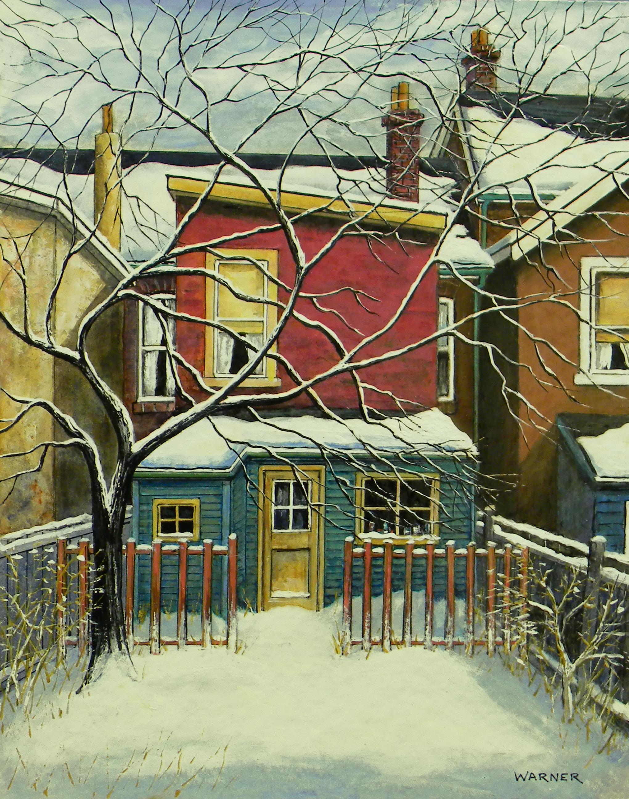 Backyard Behind Brunswick Ave (Toronto) 11x14
