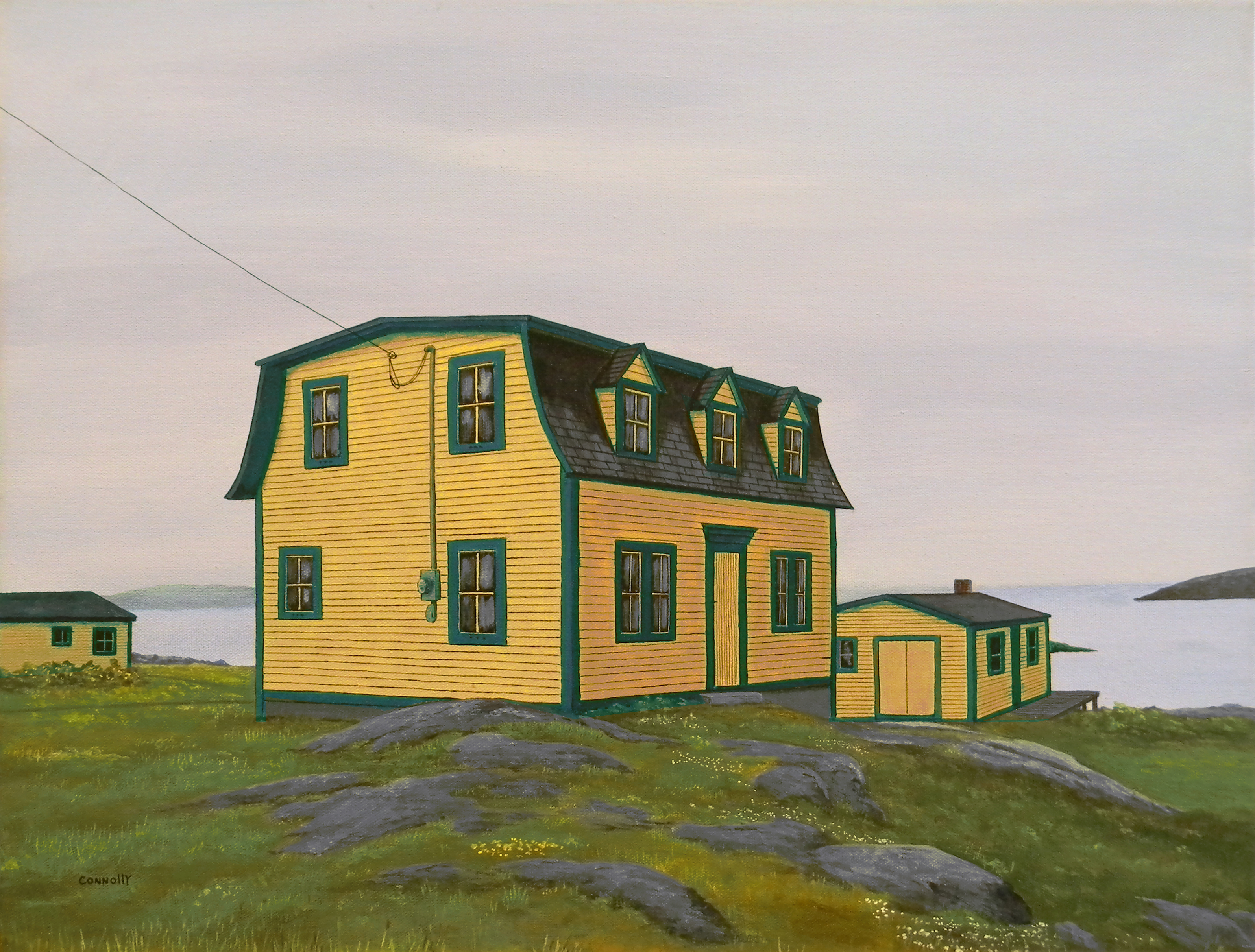 Yellow House in Fogo