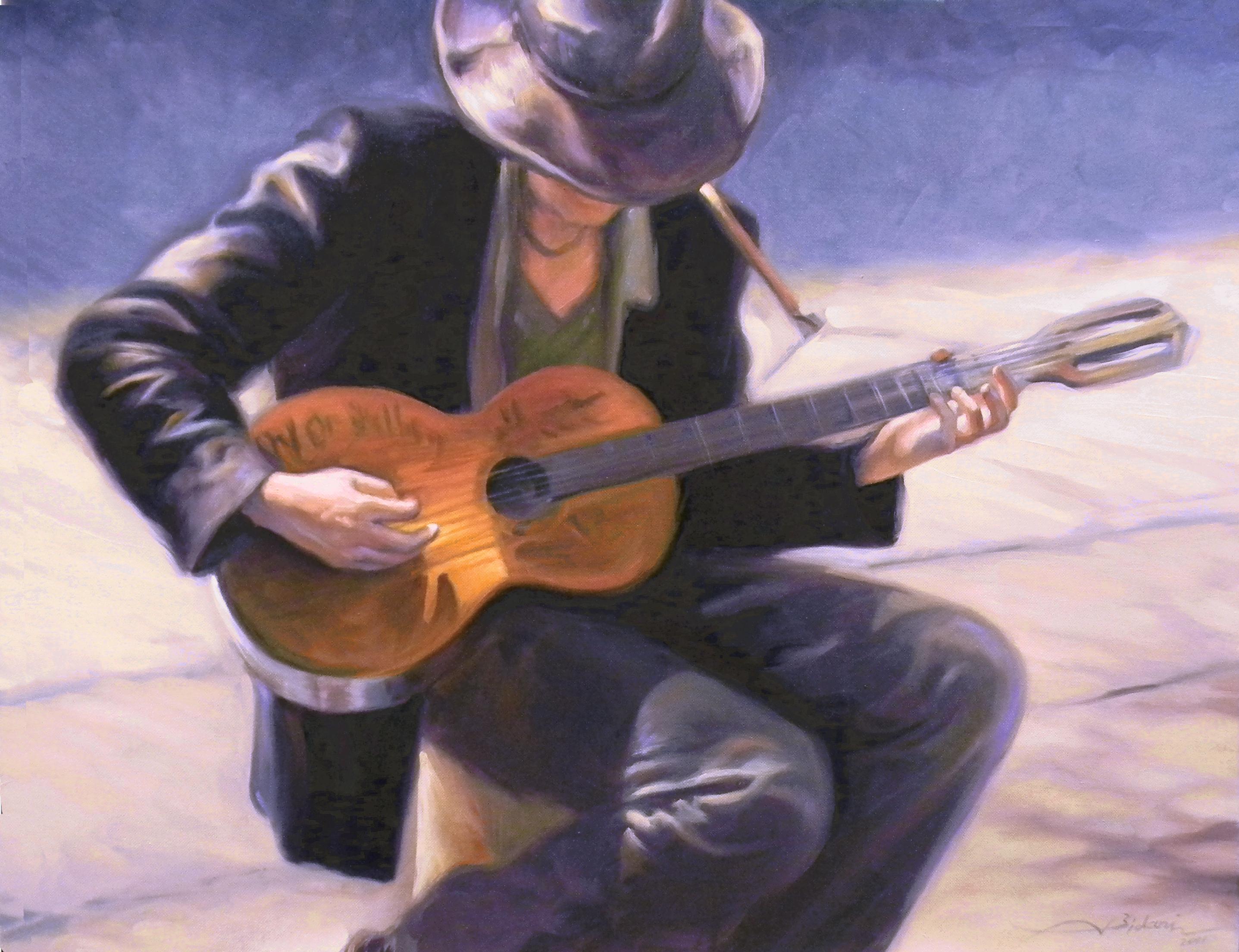 Sidewalk Guitar Player