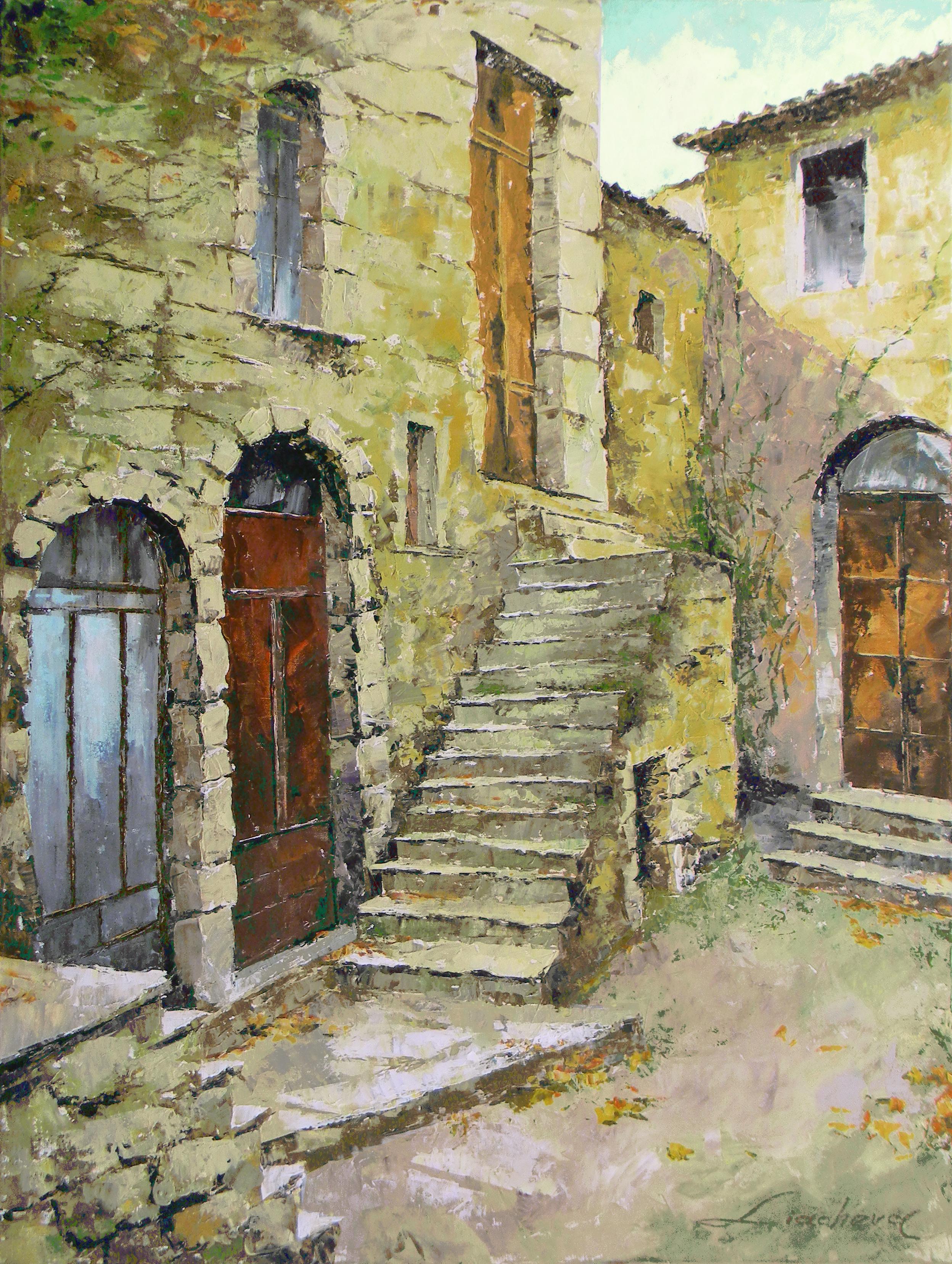 Italy, Tuscany, Pitigliano, Old Corner