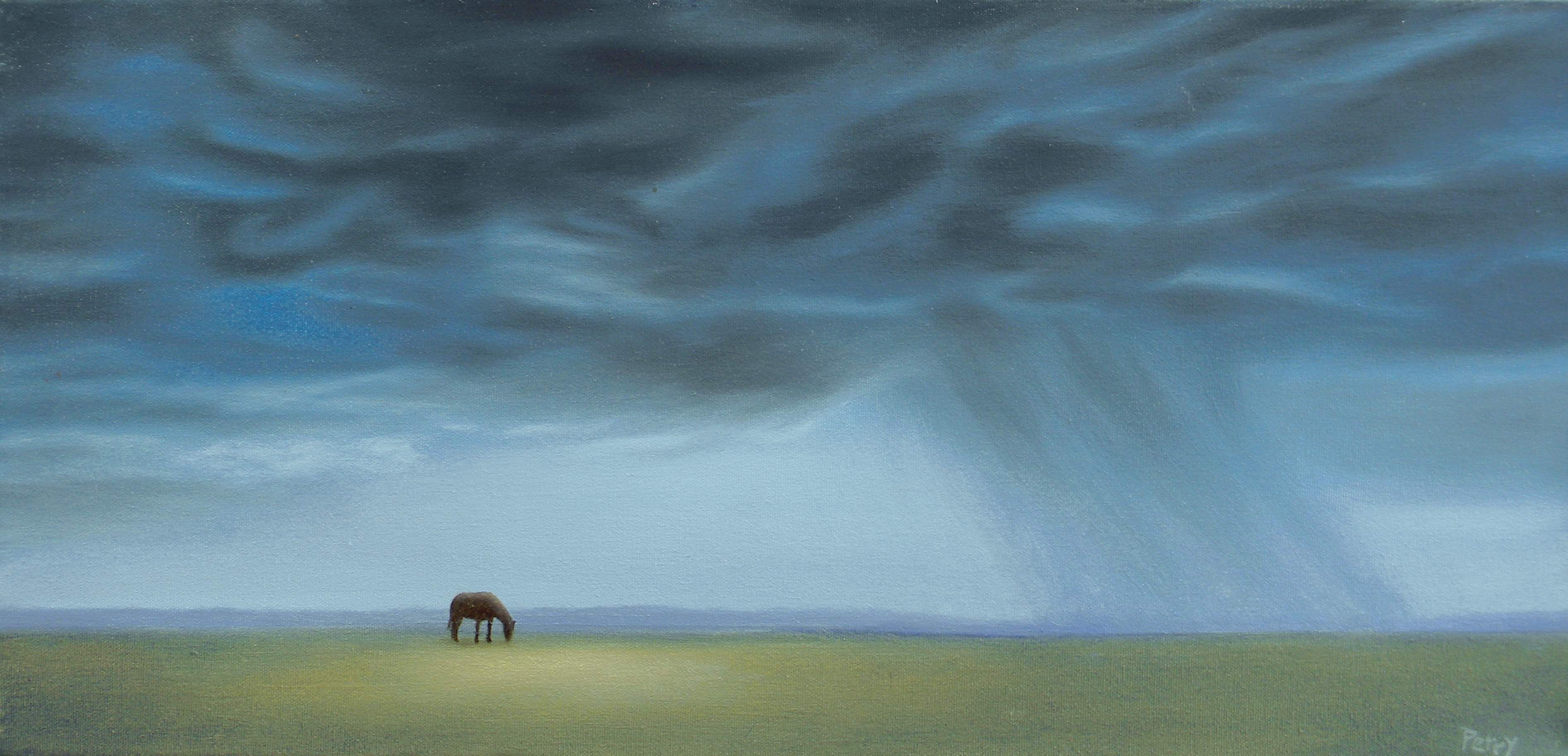 Horse With Storm Clouds