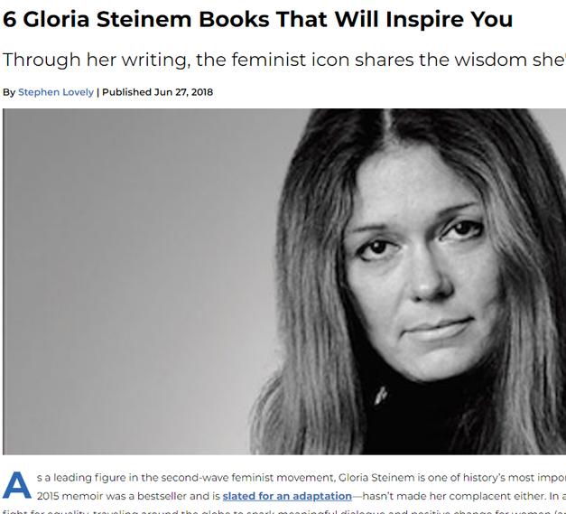 6 Gloria Steinem Books