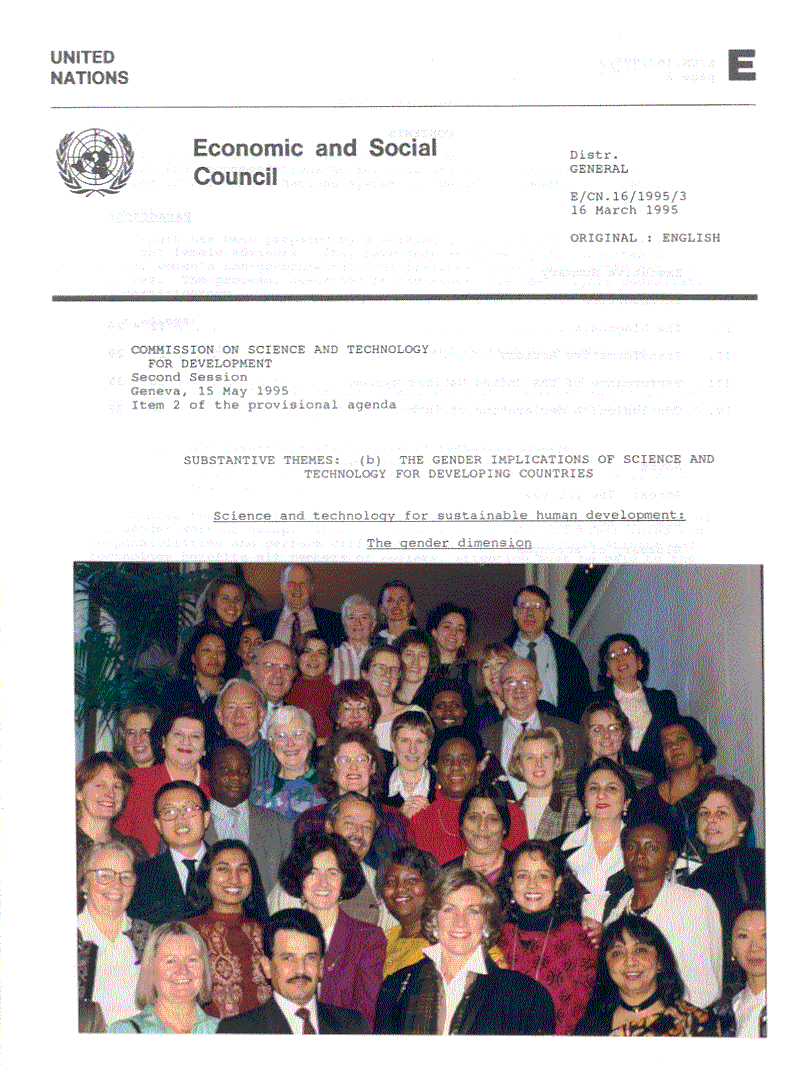 UN-CSTD Gender Working Group Report to E