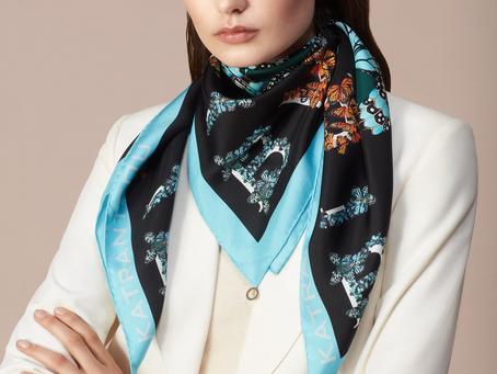 Trendy ways to wear a silk scarf