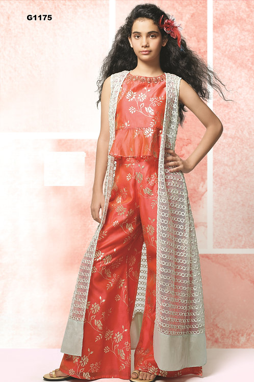 Indowestern style palazzo set for Girls - G1175