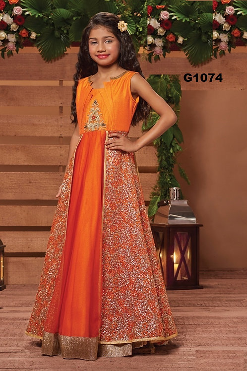 Girl's Long Gown - G1074