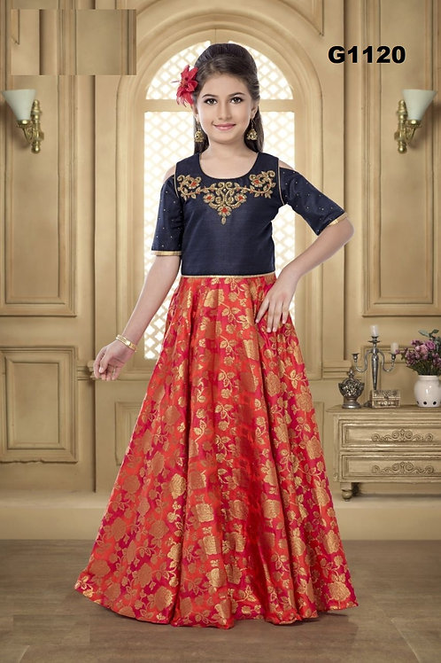 Girl's Long Gown - G1120