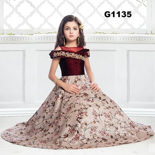 Girl's Long Gown - G1135