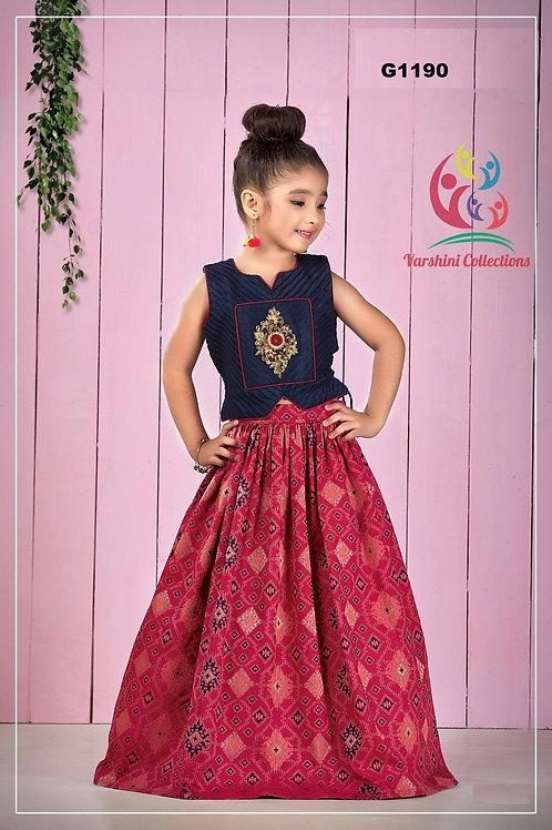 Patola Silk girls Lehenga Choli - G1190