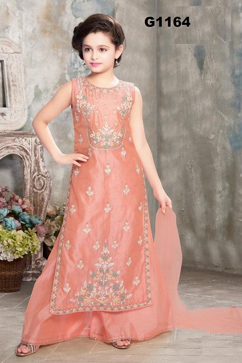 Pale pink Girls Palazzo set -G1164
