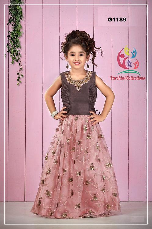 Burgandy Hued Girls Party wear Lehenga Choli - G1189
