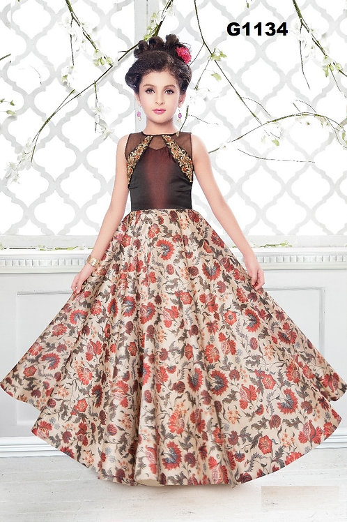 Girl's Long Gown - G1134