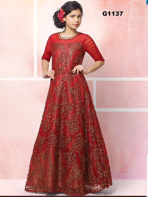 Girl's Long Gown - G1137