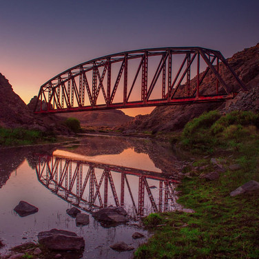 Leonardo Biolatto, Viejo puente ferroviario