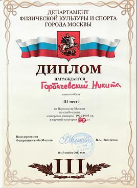 Тренер Дзюдо Самбо  Горбачевский Н.А