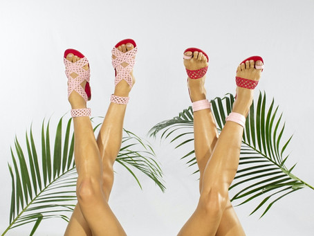 Two Latin Showgirls Design Shoes