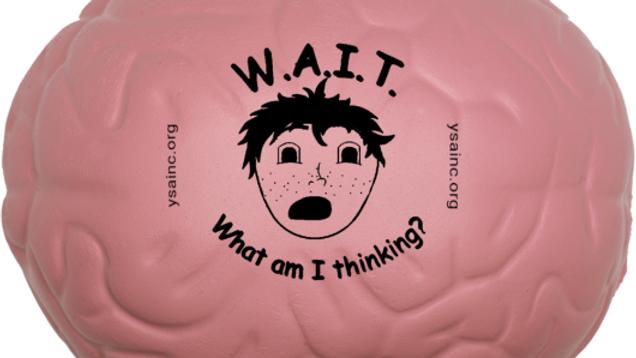 W.A.I.T. brain stress ball