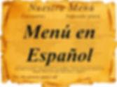 menú en español