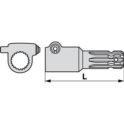 Verlängerung mit Druckknopf 175 mm 1 3/8-6/21