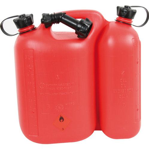 Doppelkanister 5,0 Liter und 2,5 Liter mit Ausgießer