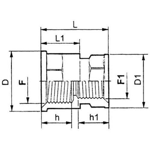 Reduziermuffe Kunststoff IG 1/2 Zoll IG 3/8 Zoll