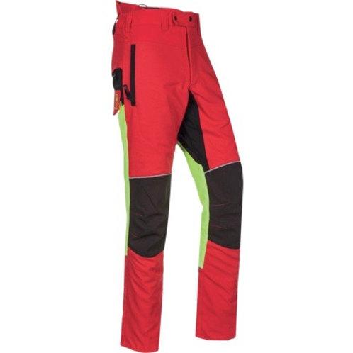 Schnittschutzhose rot-leuchtgelb-schwarz G.: 3XL