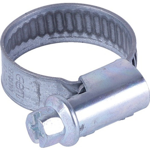 Schlauchklemme Dm 20-32 mm, DIN3017, Stahl vz, 10 Stück