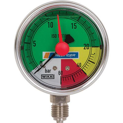 Glyzerin Manometer WIKA 63mm 0-20/60bar Anschl. un 1/4 Zoll