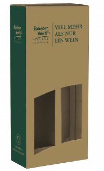 Geschenk Karton ,,Steirischer Wein'' für 2 Falschen